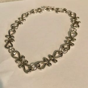 VTG~Heavy Sterling Silver Ornate Necklace 67g